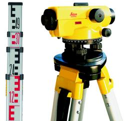 Leica Runner 20 / 24 Automatic Optical Level KIT (Includes Runner / Tripod / Levelling Staff)